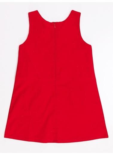 Denokids Kırmızı Uğur Böceği Kız Elbise Kırmızı